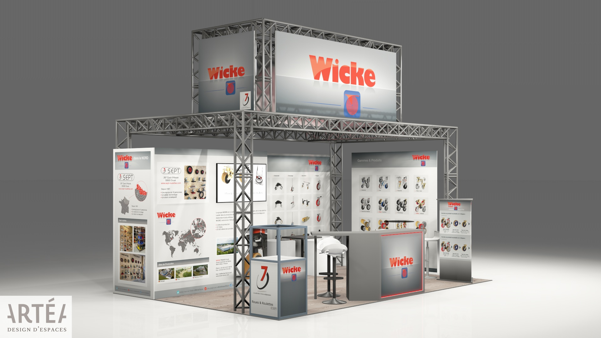 maquette du stand Wicke France salon SEPEM 2019